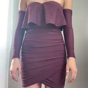 Tiger Mist dark purple dress